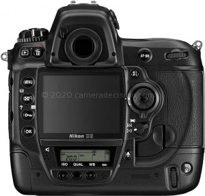 Nikon D3 back view and LCD