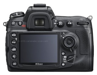 Nikon D300S back view and LCD