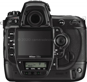 Nikon D3X back view and LCD