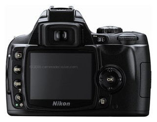 Nikon D40 back view and LCD