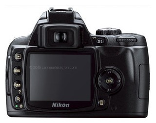 Nikon D40X back view and LCD