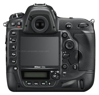 Nikon D4s back view and LCD