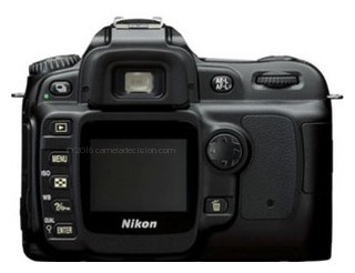 Nikon D50 back view and LCD