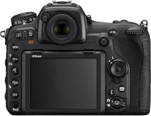 Nikon D500 back view and LCD