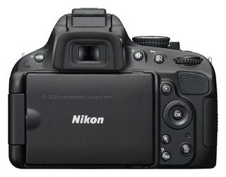 Nikon D5100 back view and LCD