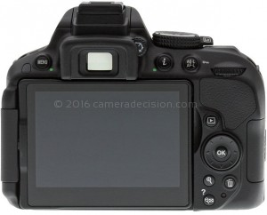 Nikon D5300 back view and LCD
