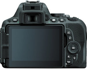 Nikon D5500 back view and LCD