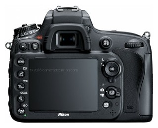 Nikon D600 back view and LCD