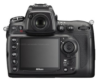 Nikon D700 back view and LCD