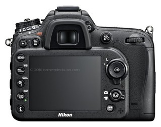 Nikon D7100 back view and LCD
