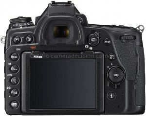 Nikon D780 back view and LCD
