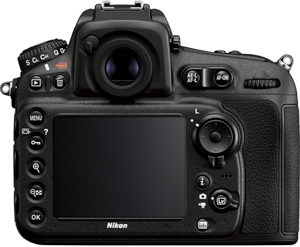 Nikon D810 back view and LCD
