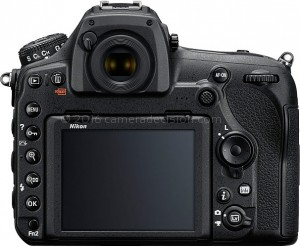 Nikon D850 back view and LCD