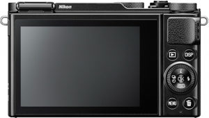 Nikon DL18-50 back view and LCD