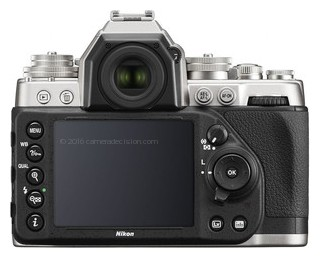 Nikon Df back view and LCD