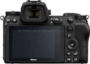 Nikon Z 6 back view and LCD