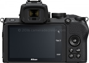 Nikon Z50 back view and LCD