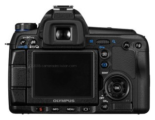 Olympus E-3 back view and LCD