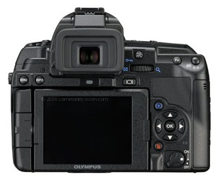 Olympus E-5 back view and LCD