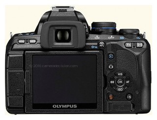 Olympus E-600 back view and LCD