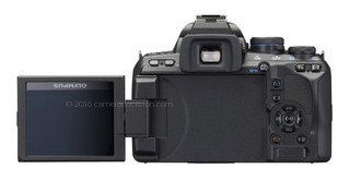 Olympus E-620 back view and LCD