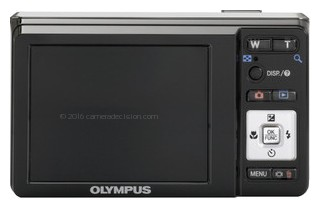 Olympus FE-4000 back view and LCD