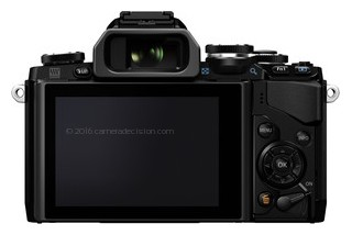 Olympus E-M10 back view and LCD