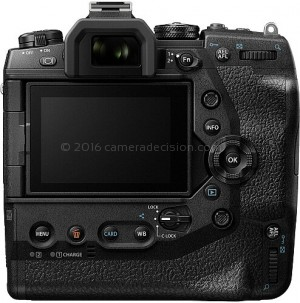 Olympus E-M1X back view and LCD