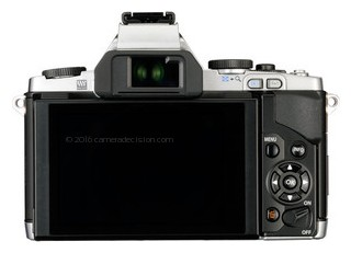 Olympus E-M5 back view and LCD