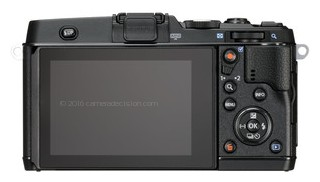 Olympus E-P5 back view and LCD
