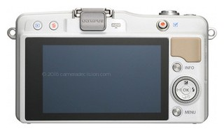 Olympus E-PL5 back view and LCD