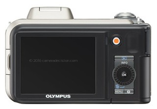 Olympus SP-600 UZ back view and LCD
