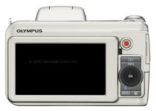 Olympus SP-800 UZ back view and LCD