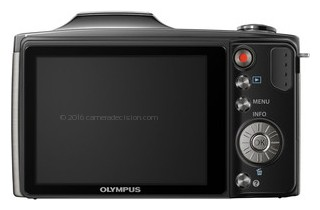 Olympus SZ-11 back view and LCD