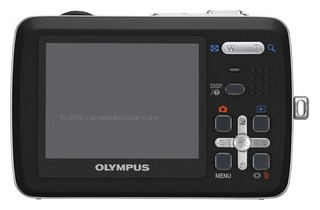 Olympus 550WP back view and LCD