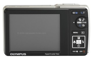 Olympus 7010 back view and LCD
