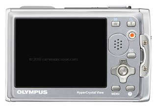 Olympus 6020 back view and LCD