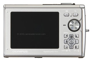 Olympus 8000 back view and LCD