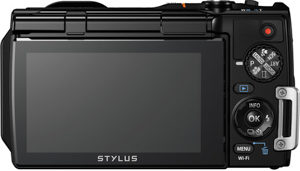 Olympus TG-860 back view and LCD