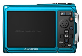Olympus TG-320 back view and LCD