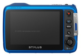 Olympus TG-630 iHS back view and LCD