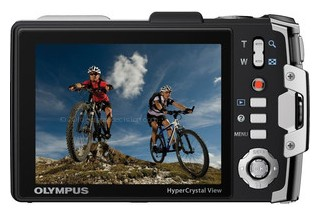 Olympus TG-810 back view and LCD