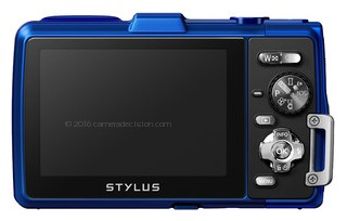 Olympus TG-830 iHS back view and LCD
