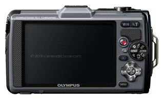 Olympus TG-1 iHS back view and LCD