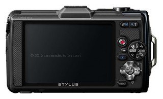 Olympus TG-2 iHS back view and LCD