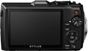 Olympus TG-4 back view and LCD