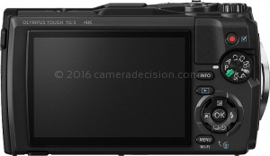 Olympus TG-5 back view and LCD
