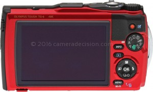Olympus TG-6 back view and LCD