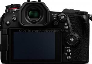 Panasonic G9 back view and LCD