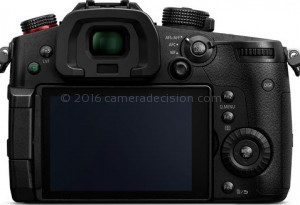 Panasonic GH5S back view and LCD